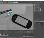 游戏手柄 控制器 摇杆掌上游戏机 PS4 儿时玩具 童年 掌机 手柄 游戏 C4D模型 电玩 娱乐