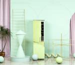 C4D电商典雅类室内场景 创意空间 海报 背景 冰箱 童话