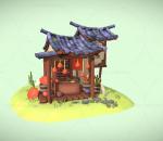 卡通小屋,Q版小屋,卡通植物,鞭炮小屋,春节,森林小屋,游戏小屋 古代亭子 木屋