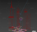 纽约 新世贸 中心大厦 美国 CBD 商业 现代