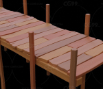 木板栈道 木质桥 木板路 小桥