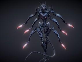 次世代 科幻机甲机器人 游戏角色 pbr带贴图 3d模型