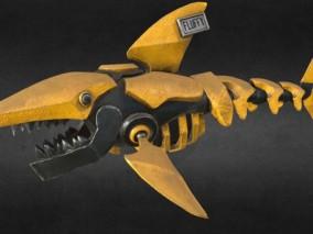 次世代 鲨鱼机器人 游戏角色 pbr带贴图 3d模型