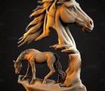 艺术马3d打印模型
