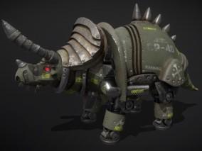 次世代 犀牛机器人 游戏角色 pbr带贴图 3d模型