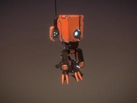 次世代 橙色机器人 游戏角色 pbr带贴图 3d模型
