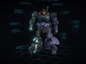 次世代 战士机器人 游戏角色 pbr带贴图 3d模型