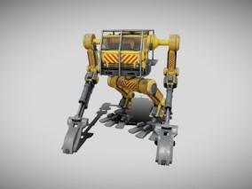 次世代 挖掘机机器人 游戏角色 pbr带贴图 3d模型