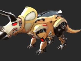 次世代 独角龙机器人 游戏角色 pbr带贴图 3d模型