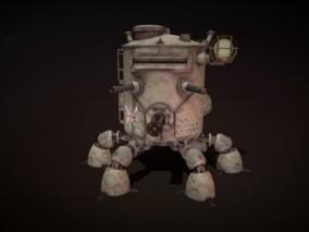 次世代 燃炉机器人 游戏角色 pbr带贴图 3d模型