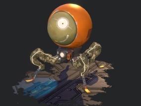 次世代 探索者机器人 游戏角色 pbr带贴图 3d模型