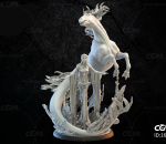 飞马女神雕塑3d打印模型