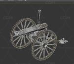 轮式大炮 车轮大炮 复古火炮