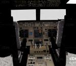 波音747飞机客机驾驶舱,机舱真实还原 飞机客舱