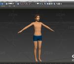 多种文件格式 男人 带绑定 人物模型 写实人物 瘦弱的男生