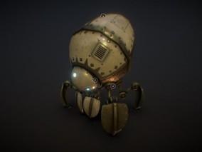 次世代 空间站机器人 游戏角色 pbr带贴图 3d模型