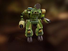 次世代 迷彩机器人 游戏角色 pbr带贴图 3d模型