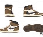 运动鞋 篮球鞋 耐克 AJ1 air jordan1 Nike nike NIKE 潮鞋 3D模型