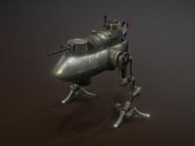 次世代 运输机器人 游戏角色 pbr带贴图 3d模型