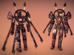 次世代 人形战斗机器人 游戏角色 pbr带贴图 3d模型