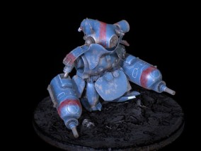 次世代 蓝色机器人 游戏角色 pbr带贴图 3d模型
