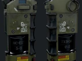 科幻军事武器 道具 干扰手榴弹