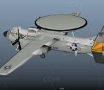 预警机 作战指挥机 舰载预警机 鹰眼 美国海军战机 战斗机 老式飞机