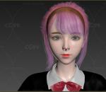 日韩系中学生女大学生max2015和通用格式fbx