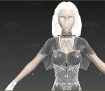 女特工女刺客通用格式fbx、3dmax、obj