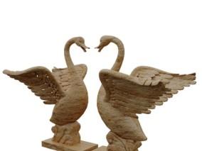 文物天鹅雕塑