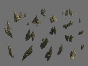古代场景 部件道具 尖石