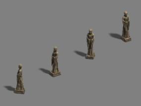 古代场景 部件道具 佛像
