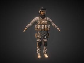 次时代PBR士兵战士特种兵