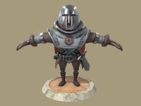 次时代PBRQ版中欧盔甲战士