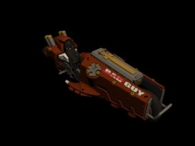 时尚 现代 高级模型 z恶装备角色 火龙炮 3d模型