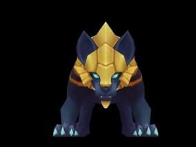 西幻 角色人物 蓝豹  3d模型