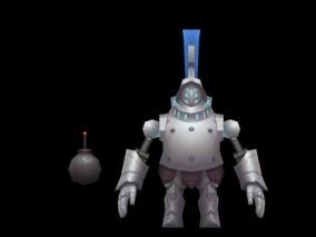 西幻 角色人物 银甲武士  3d模型