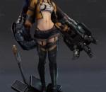 3d次时代游戏女角色设计素材