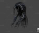 古代女人头发小龙女长发武侠仙侠女头发古代发斌直发造型女性毛发