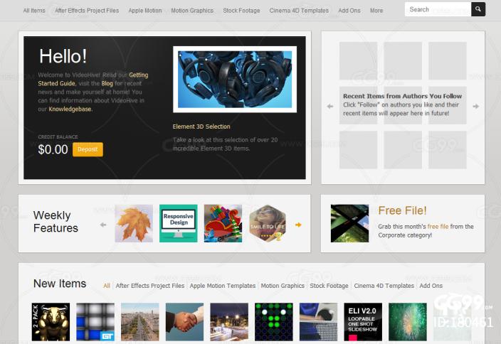 AE模板 网站 介绍