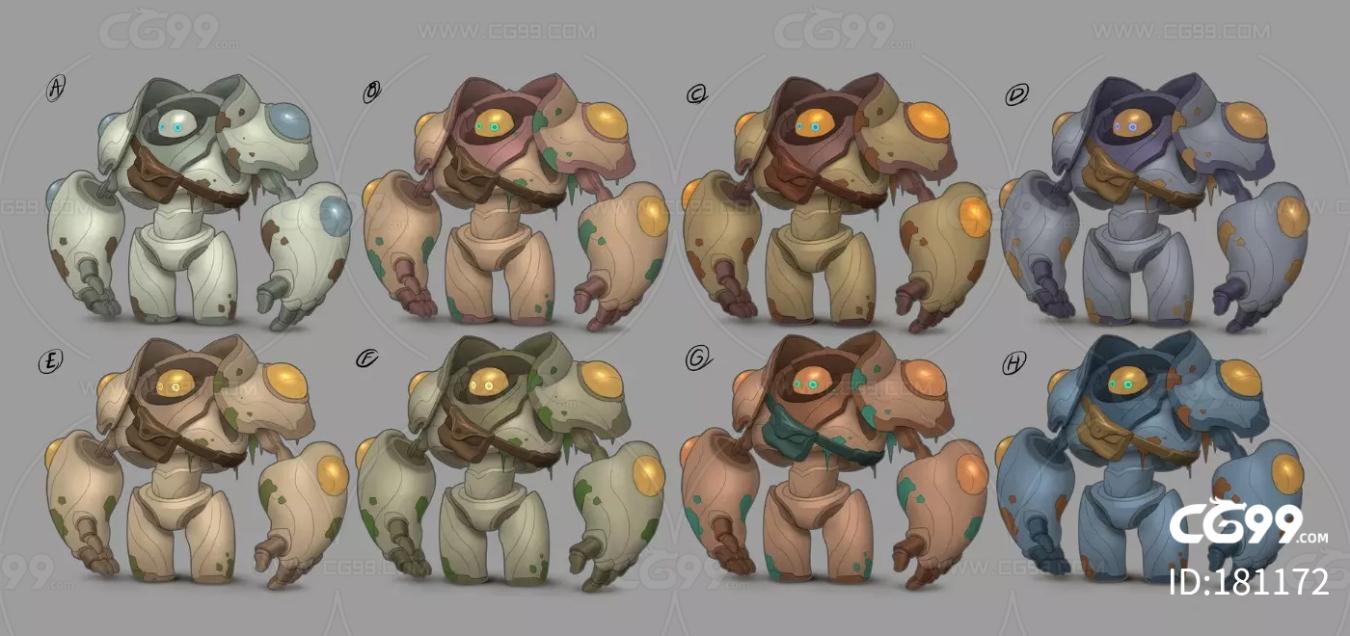 角色 怪物 时装 套装 概念设定 风格化