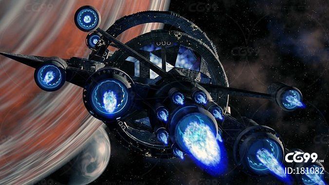 科幻次时代 宇宙飞船 太空飞船 空间站