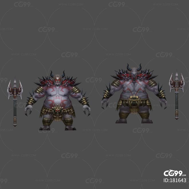 屠夫 憎恶 兽人 胖子 狼牙棒 魔兽世界 boss 怪物 战士 角斗士 男人 野蛮人 恶魔