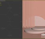 粉橙色竖版电商陈美舞台1