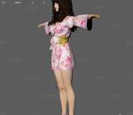 日本女性 和服 睡衣居家服装 性感美女 写实