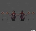 处刑人 恶魔战士 恶魔守卫 boss 地狱军团 战士 镰刀 怪物 魔兽世界 魔幻