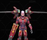 科幻机械战士PBR 未来科幻机器人 科技男性角色 机甲猎人