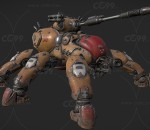 PBR次世代 机甲 战争机器3D模型