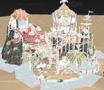 卡通 手绘 q版 低模 海盗 房屋 港口 建筑 海岛 基地 绿洲