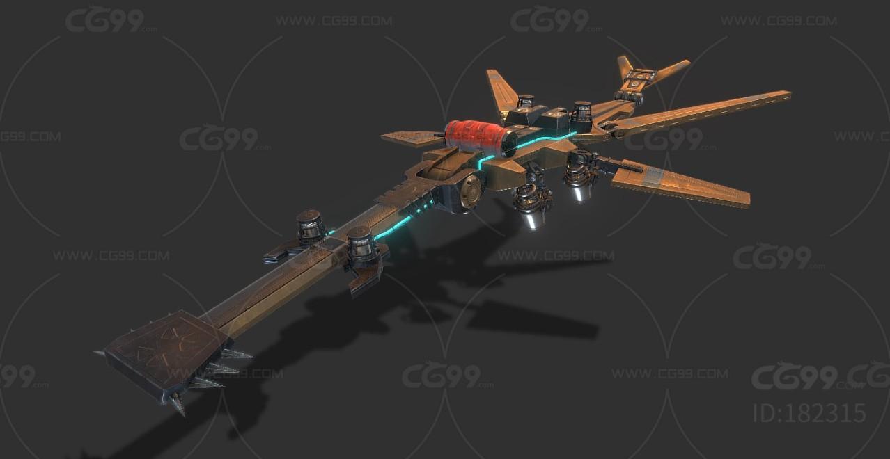 PBR次世代 机甲 飞舰 高达  3D模型